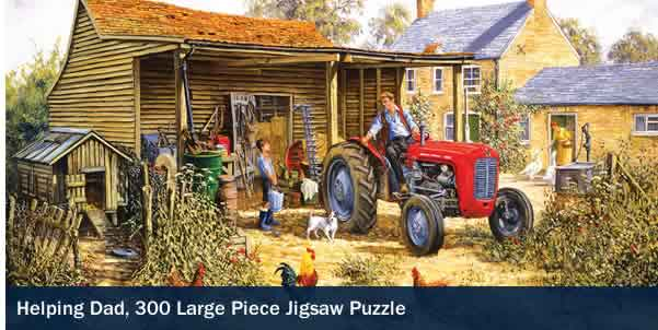 Helping Dad 300 Large Piece Jigsaw Puzzle