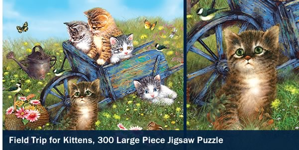 Field Trip for Kittens 300 Large Piece Jigsaw Puzzle