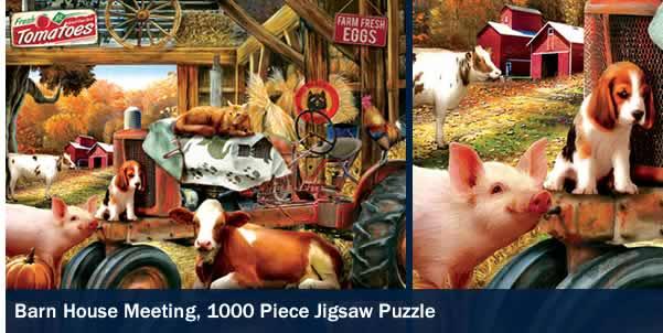 Barn House Meeting 1000 Piece Jigsaw Puzzle