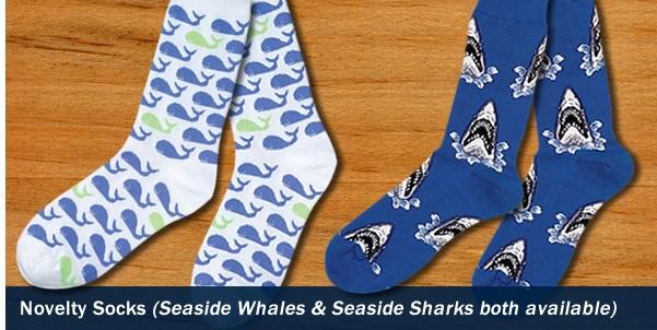 Novelty Seaside Whales Socks