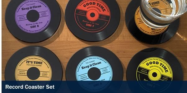 Record Coasters Set