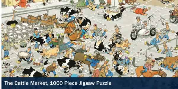 THE CATTLE MARKET 1000 PIECE JIGSAW PUZZLE