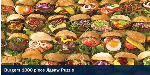 Burgers 1000 Piece Jigsaw Puzzle