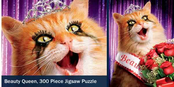 BEAUTY QUEEN 300 LARGE PIECE JIGSAW PUZZLE