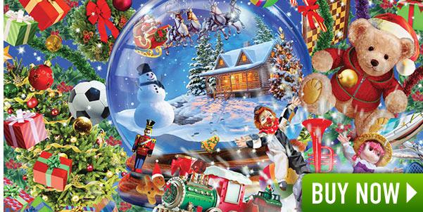 Snowglobe Dreams 500 Piece Glitter Jigsaw Puzzle