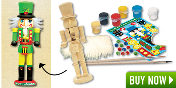Wooden Nutcracker Painting Kit