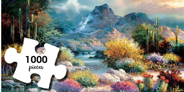 Springtime Valley 1000 Piece Jigsaw Puzzle