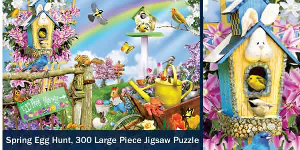 Spring Egg Hunt 300 Large Piece Jigsaw Puzzle