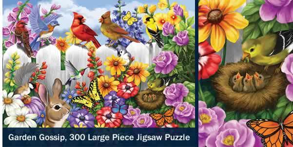 GARDEN GOSSIP 300 LARGE PIECE JIGSAW PUZZLE