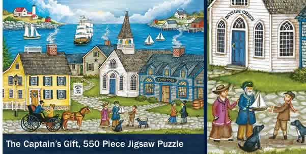 THE CAPTAIN'S GIFT 550 PIECE JIGSAW PUZZLE