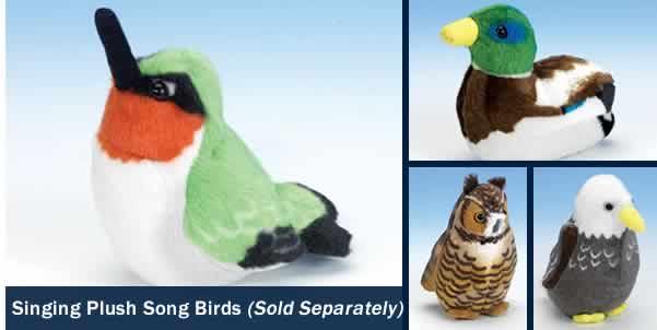 SINGING PLUSH SONG BIRDS