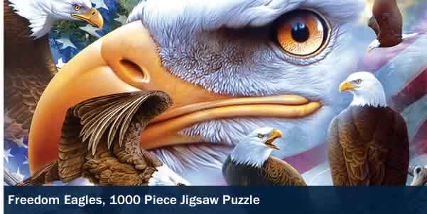 FREEDOM EAGLES 1000 PIECE JIGSAW PUZZLE