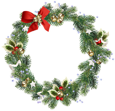 Happy Holidays - Wreath