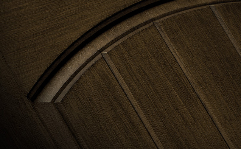 Door Detail Shown in Reeb Finish Bark