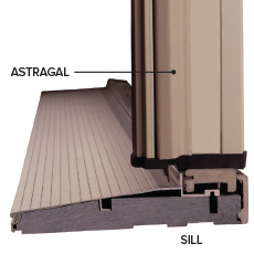 Exterior Door Astragal and Sill Detail