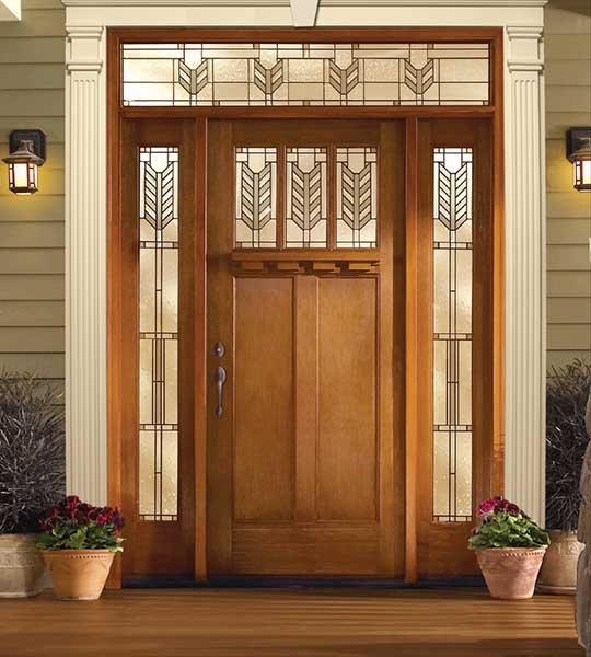 Exterior Door with Dentil Shelf