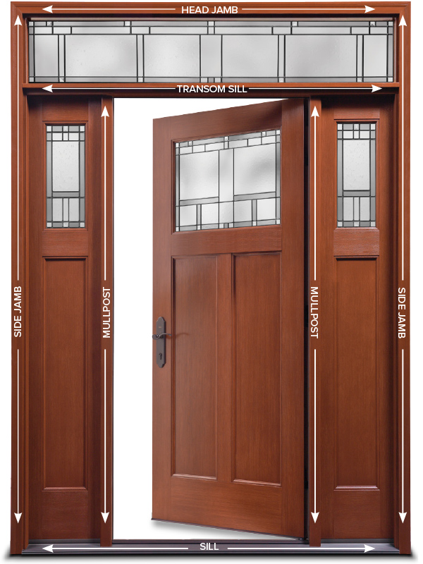 The anatomy of an exterior door reeb learning center Exterior door frame parts