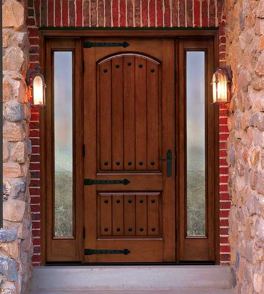 Exterior Door with Strap Hinges and Clavos