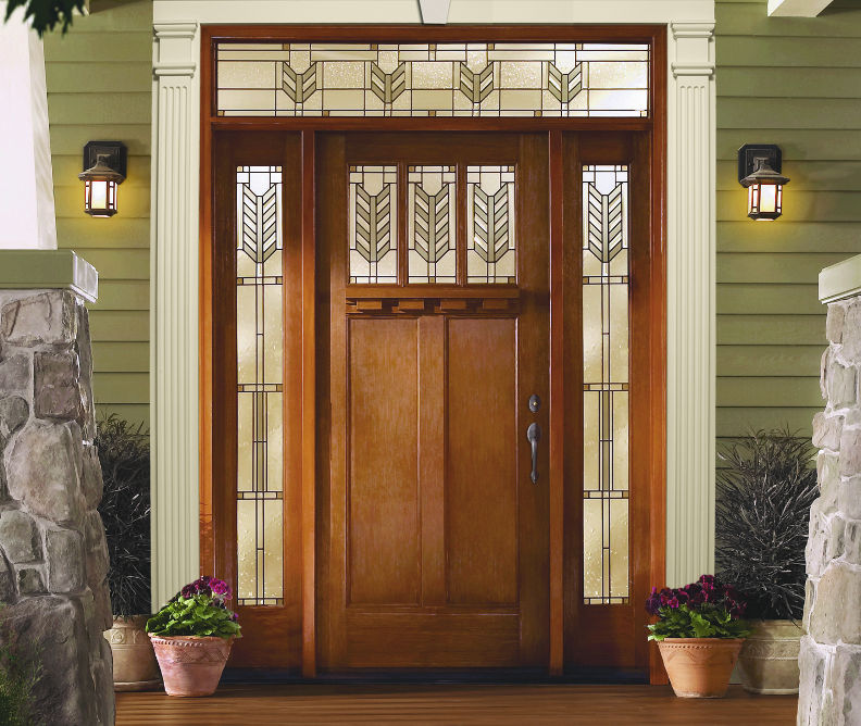 Exceptionnel Exterior Fiberglass Door Unit