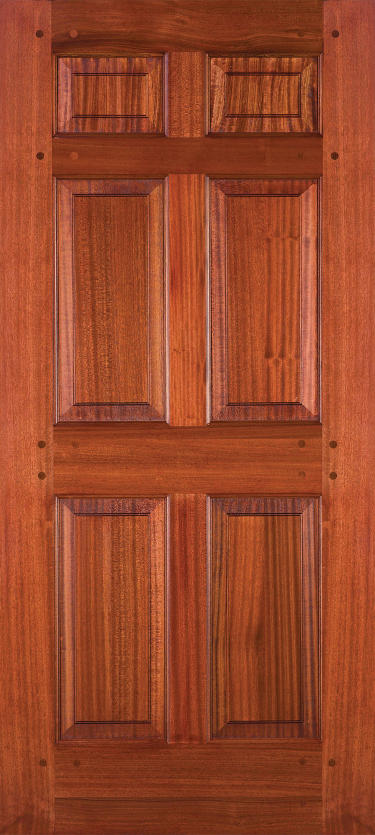Simpson Nantucket Collection Sapele Mahogany Wood Door.