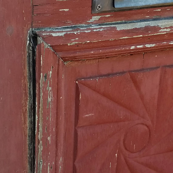 Close Up of Door with Rot.