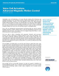 White paper on Voice Coil Actuators Advanced Magnetic Motion Control from BEI Kimco