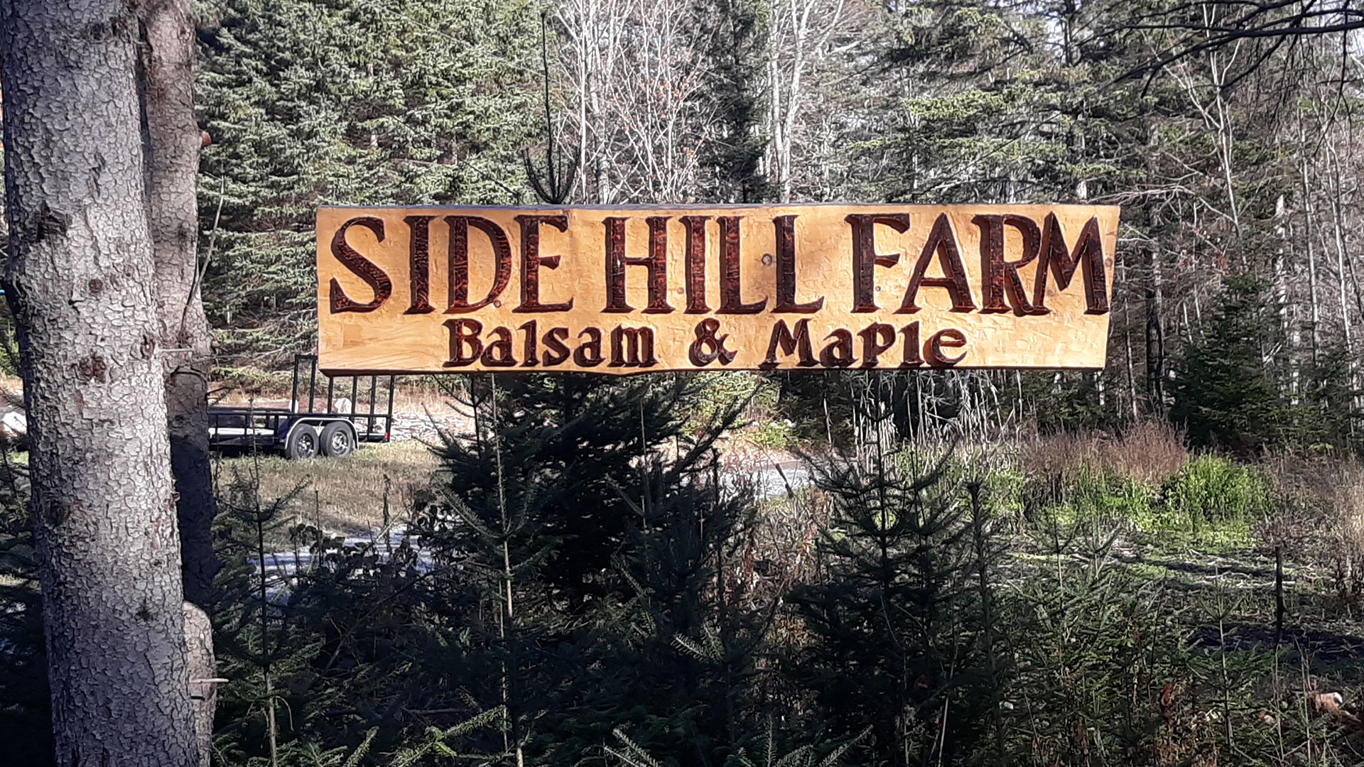 Johnsons Side Hill Farm sign