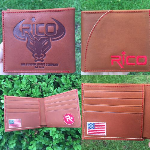 Rico Glove Leather Wallet Carmel