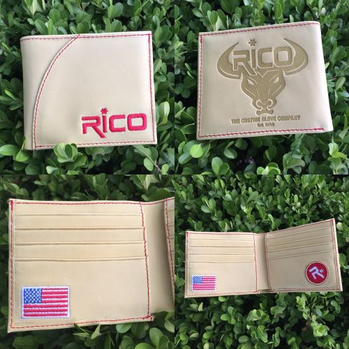 Rico Glove Leather Wallet Cream