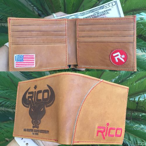 Rico Horween Leather Saddle Color Wallet