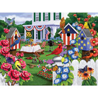Backyard Party 300 Large Piece Jigsaw Puzzle