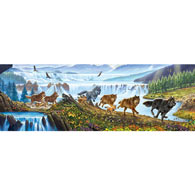Wolves on the Run 500 Piece Jigsaw Puzzle