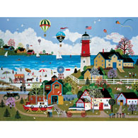 Cape Milford Light 300 Large Piece Jigsaw Puzzle