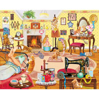 Kittens Visit Betsy's Room 1000 Piece Jigsaw Puzzle