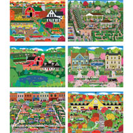 Set of 6: Mark Frost 500 Piece Jigsaw Puzzles