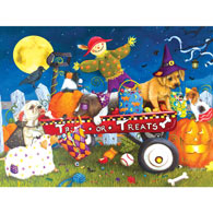 Halloween Puppies 300 Large Piece Jigsaw Puzzle