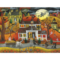 Halloween Fright Night 500 Piece Jigsaw Puzzle