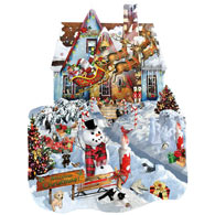 Christmas at Our House 1000 Piece Shaped Jigsaw Puzzle