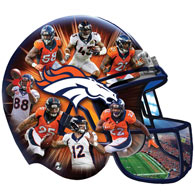 Broncos 500 Piece Shaped Jigsaw Puzzle