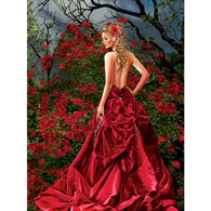 Tais in Red 1000 Piece Jigsaw Puzzle