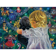 Little Girl with Puppy 300 Large Piece Jigsaw Puzzle