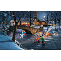 Skater's Moon 550 Piece Jigsaw Puzzle