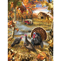 Turkey Ranch 1000 Piece Jigsaw Puzzle