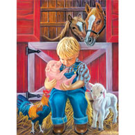 Little Farm Friends 300 Large Piece Jigsaw Puzzle