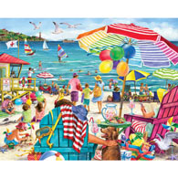 Day at the Beach 1000 Piece Jigsaw Puzzle