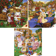 Set of 3: Carol Lawson 300 Large Piece Jigsaw Puzzles