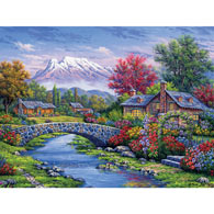 Cabin by the River 550 Piece Jigsaw Puzzle