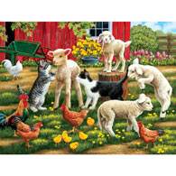 Lambs on the Loose 300 Large Piece Jigsaw Puzzle