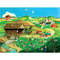 Easter Egg Hunt 500 Piece Jigsaw Puzzle