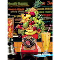 Fruity Pug 300 Large Piece Jigsaw Puzzle